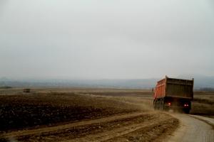Camions qui transportent du charbon