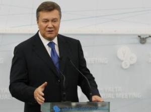 Viktor Ianoukovitch, président ukrainien, lors de son discours devant le forum « YES », à Yalta, ce 20 septembre 2013. REUTERS/Andrei Mosienko/Presidential Press Service