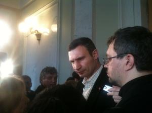 Vitali Klitschko, Verkhovna Rada, Kiev, 03/12/2013.