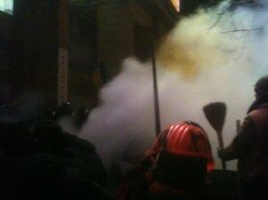 Siège du quartier général de la Révolution (maison des associations), Kiev, le 11/12/2013