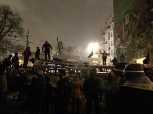 Barricades, Hurshevskoho ul. 21.01