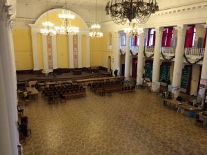 Salle de cérémonie de la Mairie de Kiev après évacuation, 17/02/2014