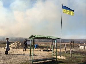 Poste-frontière aux abords du village de Neskuchne - oblast de Kharkiv, le lundi 7 avril.