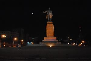 Statue dédiée à Vladimir Lénine sur la Place de la Liberté, Kharkiv.