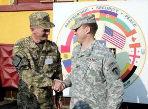 Ukrainian Colonel Oleksandr Sivak & U.S. Colonel Alfred Renzi, 15/09/2014