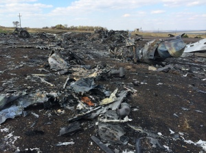 Site du Crash du Boeing MH17 de la Malyasia Airlines, Hrabove, 07/10/2014.