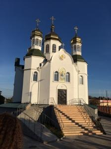 L'Eglise orthodoxe du Patriarcat de Kyiv à Louhansk est fermée. Photo, le 10/10/2014