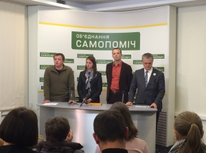 Samopomich campaign headquarters, on 26/10/2014