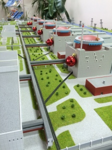 "Maquette des six réacteurs de la ""Zaporiska AES"", Enerhodar."