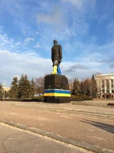 Place Lénine, Kramatorsk.