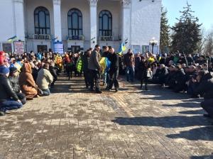 Enterrement d'un soldat ukrainien de 28 ans, Marioupol, 13/02/2015