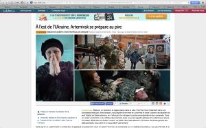 Capture d'écran du site de La Libre Belgique