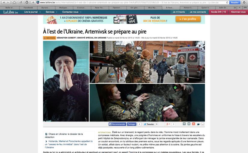 La Libre Belgique: A l'est de l'Ukraine, Artemivsk se prépare aupire