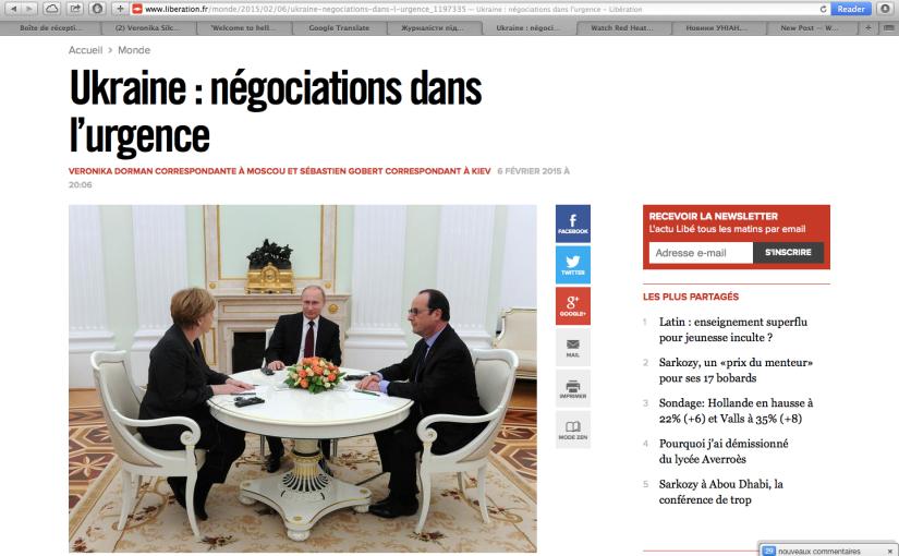 Libération: Ukraine, Négociations dansl'urgence