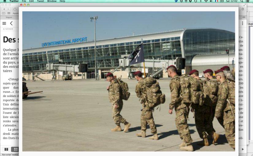 La Tribune de Genève: Des soldats américains atterrissent enUkraine