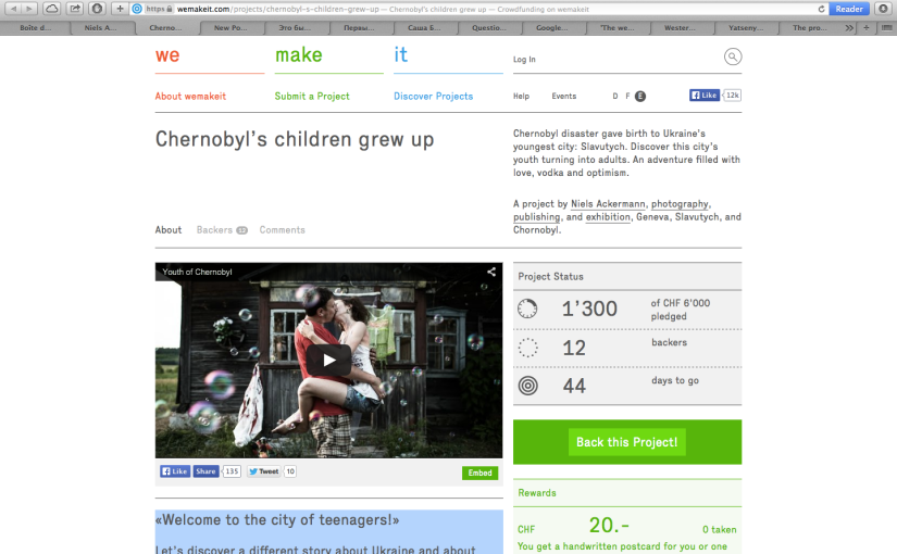 Back this Project! – «Chernobyl's children grewup»