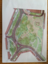 Map of the planned changes to the square