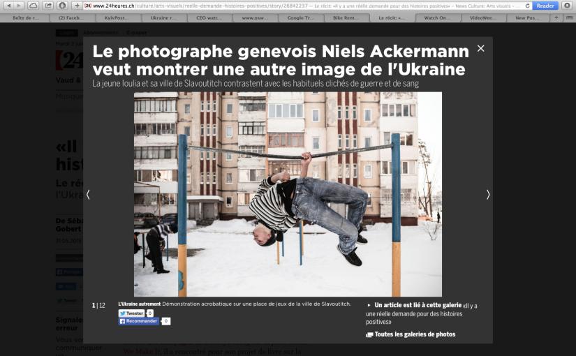 La Tribune de Genève: Niels Ackermann: «Il y a une réelle demande pour des histoirespositives»
