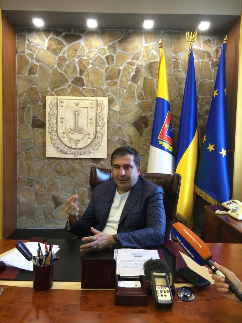 RTS: Odessa en ébullition depuis l'accession de Mikheil Saakachvili au poste degouverneur