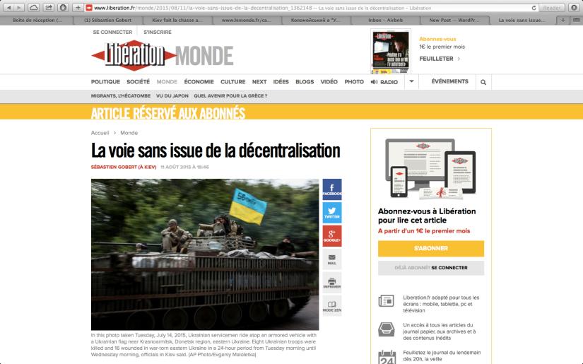 Libération: La voie sans issue de la décentralisation?