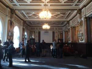 Salle de conférence de présentation du rapport du Conseil de l'Europe, Odessa, le 05/11/2015