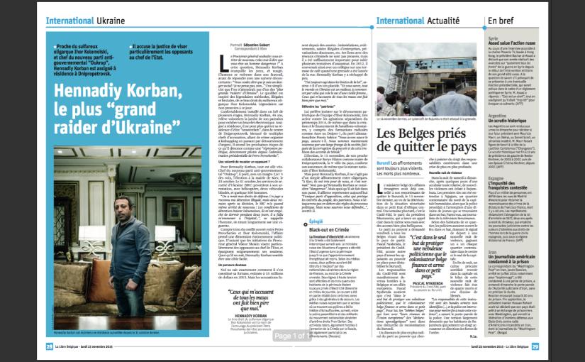 LLB: Hennadiy Korban, le plus «grand raider d'Ukraine»