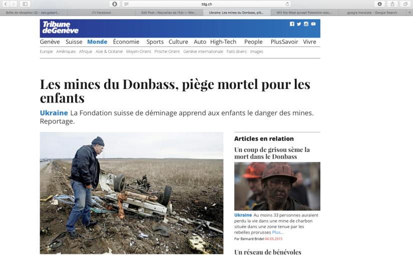 TDG: Les mines du Donbass, piègemortel