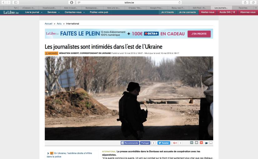 LLB: Les journalistes malmenés enUkraine