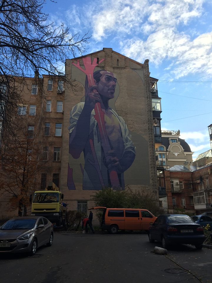 RFI: Une Révolution des Couleurs sur les murs deKiev