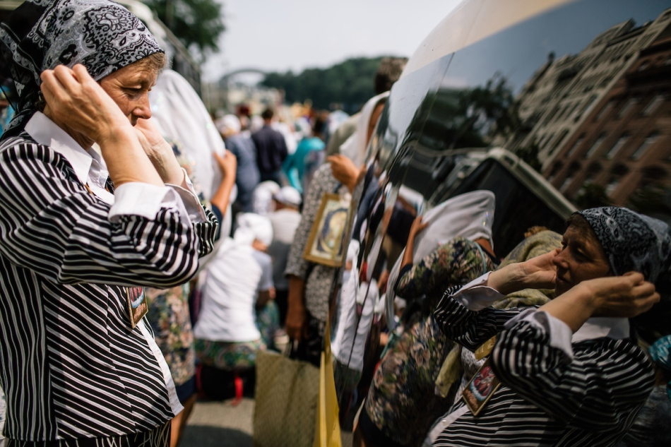 Pilgrimage of Ukrainian Orthodox Church of Moscow Patriarchate in Kiev