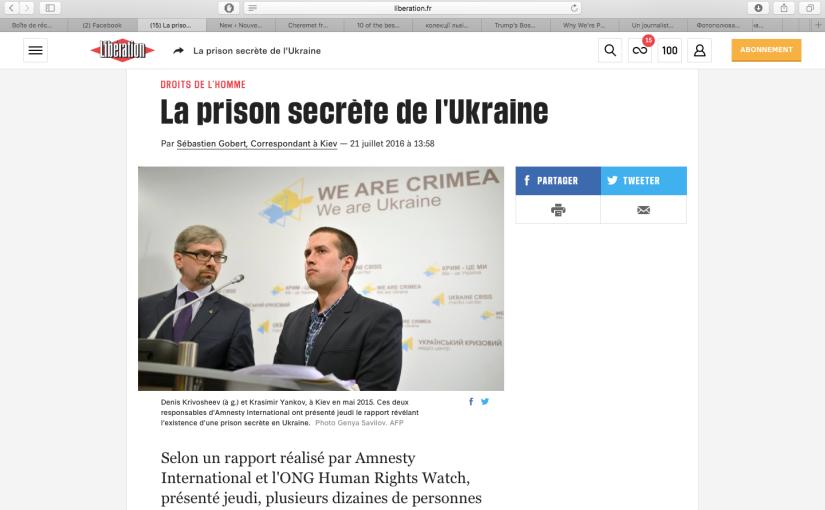 Libération: La Prison secrète del'Ukraine