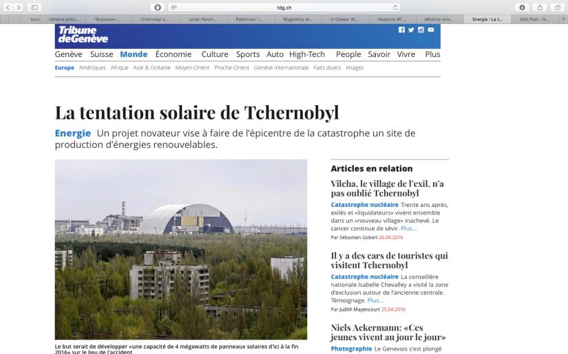 TDG: La tentation solaire deTchernobyl