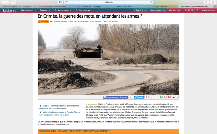 LLB: Et pendant ce temps, le Donbass toujours sous lesbombes…