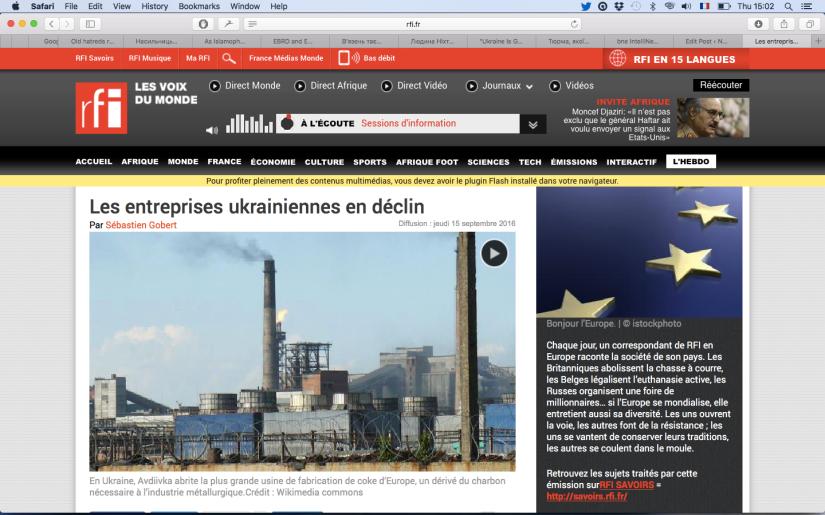 RFI: Les entreprises ukrainiennes endéclin