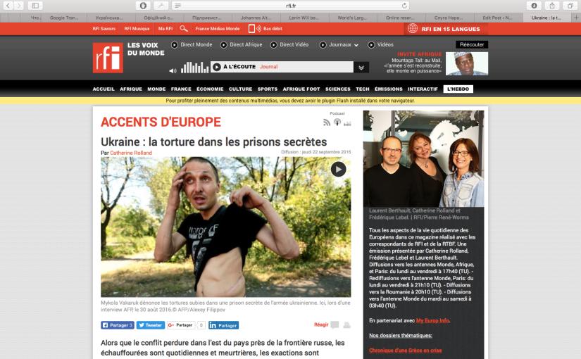 RFI: Torture & prisons secrètes enUkraine