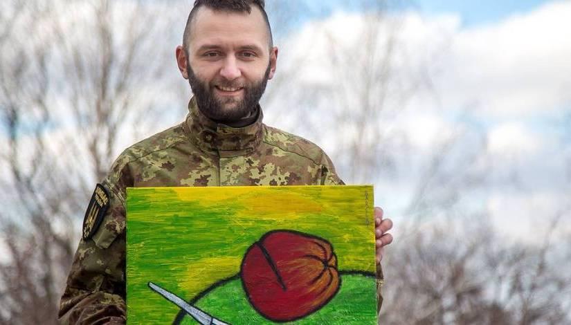 LLB: Pavlo Kulyk, le banquier devenu soldat, peint pour échapper à la guerre enUkraine
