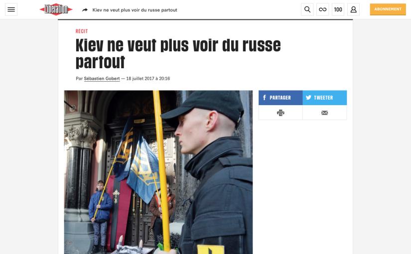 Libération: Kiev ne veut plus voir du russepartout